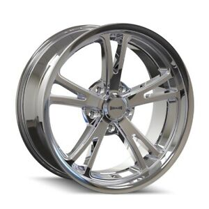 One 1 18x9 Ridler 606 Et 0 Chrome 5x120 65 Wheel Rim
