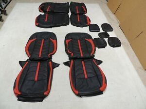 Leather Seats Upholstery Covers Fits Jeep Wrangler Jl Rubicon 2018 2020 Red G9a