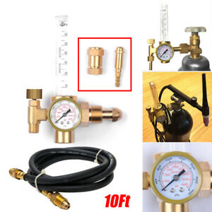 Argon Co2 Mig Tig Flow Meter Regulator Welding Flowmeter Gas Gauge Welder Hose
