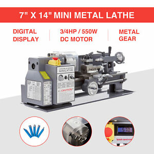 Mini Metal Lathe 7 X 14 550w 3 4hp Metal Gear Digital Display Variable Speed