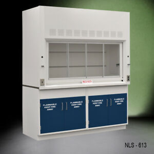 6 Chemical Fume Hood W Two X Flammable Cabinets Fisher American E2 080