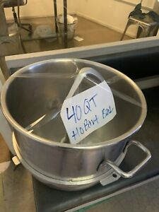 40qt Hobart Stainless Steel Bowl W Hook Attachment