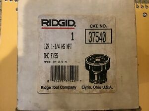 New Old Stock Ridgid 37540 Die Head 1 1 4 Npt Stainless Steel 12 r Threader