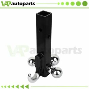 1pcs Trailer Hitch 2 Triple 3 Ball With Hook Receiver Mount 7 8 2 2 5 16