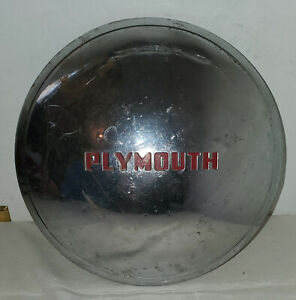 Vintage 1949 Plymouth Hubcap Half Baby Moon Dog Dish