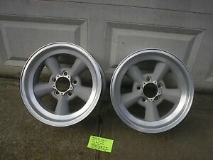 Pair 15x7 American Racing Torque Thrust Wheels 4 5 Pattern Ford Mopar Amc