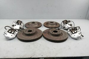 2008 2011 Mercedes C63 Amg W204 Brembo Brakes Set Calipers Rotors Front