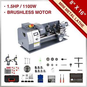 8 16 Mini Metal Lathe Machine 1100w 2250 Rpm Brushless Motor Bench Top