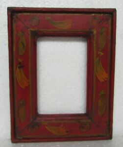 Vintage Old Handcrafted Unique Shape Wooden Picture Photo Frame
