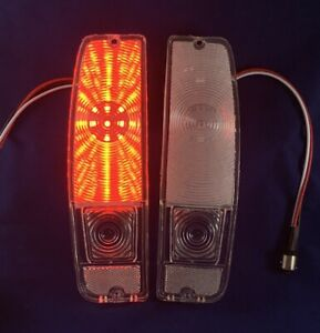 Clear Led Tail Light Lenses With Led Board 1967 72 Ford Truck 1967 77 Bronco