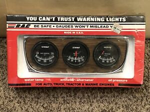 Vintage Rac Triple Gauge Set 989