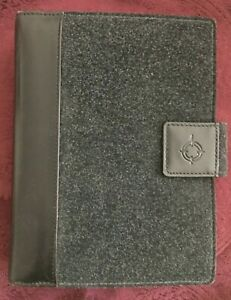 Vtg 1998 Franklin Covey Compact Gray Flannel Black Leather Planner Inserts