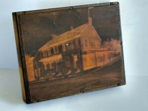 Vintage Copper On Wood Printing Block General Store W Coca Cola Sign Large 5