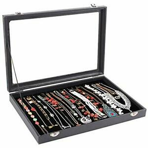20 Hooks Necklace Tray Storage Box Jewelry Display Stackable necklace Box