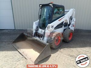 2017 Bobcat S650 Skid Steer Erops Heat ac Aux Hyd Hand foot Ctrl 2 Spd 260 Hours