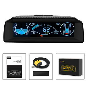 Autool X90 Car Hud Speed Slope Meter Compass Board Speedometer Head Up Display