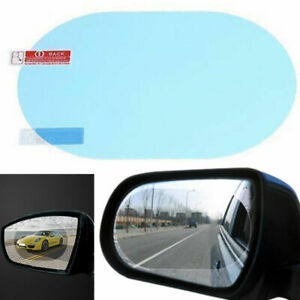 2pcs Rainproof Car Rearview Mirror Sticker Anti Fog Protective Film Rain Shield