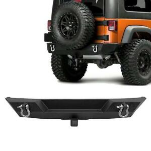 Fit For Jeep Wrangler 2007 2018 Jk Textured Black Powder Coated Rear Bumper