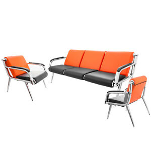 3 seat Waiting Room Chairs Set Bench Comfortable Guest Reception Chairs Updated