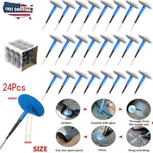 24x Auto Car Truck Tire Tyre Puncture Repair Wired 36mm 4mm Plug Mushroom Patch
