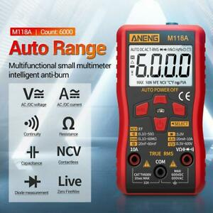 Digital Multimeter Amp Ohm Electric Voltage Tester Ac Dc Electrician Tool