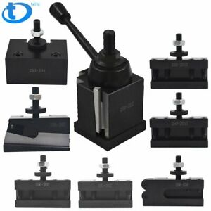 Bxa 250 222 Wedge Tool Post Holder Set For Lathe10 15 With 7 Pc Tool Holder