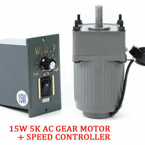 110v Gear Motor Electric Variable Speed Adjustable Controller Motion Control Usa