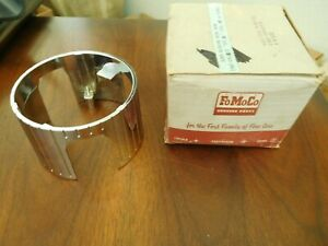 Mercury Meteor Chrome Horn Hub Ring 1961 1962 Nos Fomoco Part