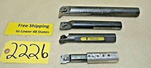 4 Pcs carbide Inserted Boring Bars Machine Shop Tools S20 dvunr 3 10 Free Ship