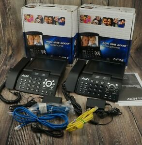 acn Iris 3000 us Voip Digital Internet Video Phone Lot Bundle Of 2