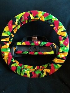 Hot Chili Peppers Fleece Steering Wheel Cover Set