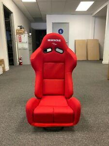 Single 1 Bride Gias V1 Red Plain Low Max Pair Reclining Mechanism Racing Seat