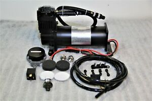 Air Ride Compressor Train Horn Lowrider Bags Suspension Black 12v 200psi 444
