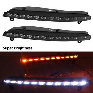 Car Daytime Running Light Turn Signal 2 Color Drl Led Fog Lamp For Q7 2006 2009