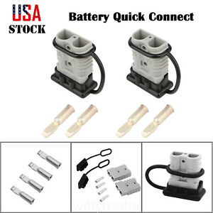 2pcs Quick Battery Connector Winch Trailer Connect Disconnect Wire Harness Plug