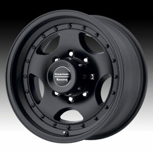 American Racing Ar23b Satin Black 15x10 5x5 44mm Ar235173b