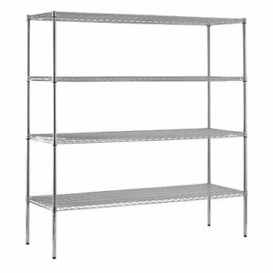 Sandusky Ws722474 c Chrome Steel Heavy Duty Adjustable Wire Shelving 2400 Lbs C