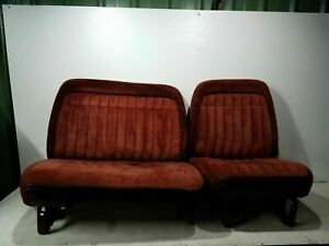 1988 1994 Chevy 1500 2500 3500 Truck 40 60 Split Bucket Bench Seat Red Velvet