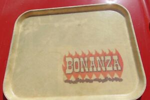 Bonanza Sirloin Pit Steakhouse Restaurant Serving Tray Advertising Made in USA $11.99