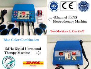 Chiropractic Combo Ultrasound Therapy 1mhz With 4 Channel Electrotherapy Machine