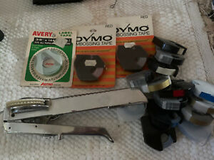 Vintage Dymo M 5 Metal Label Maker Tapewriter With Tapes