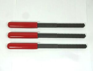 Nos Snap on Tools 3 Pc Tftfm932 Red Handled Thread Restorer File Set No Pouch