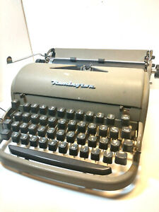 Vintage Remington Rand Deluxe Portable Typewriter In Original Case As Is