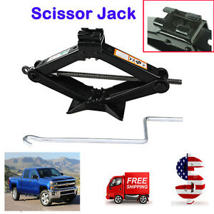 Lifting Scissor Jack 2 Tonne Capacity Via Chromed Crank Speed Handle Durable Usa