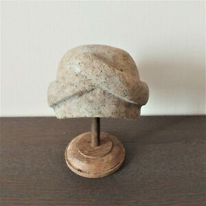 Vintage Women Hat Block Millinery Supplies Wooden Mold Hatmakers Tool Antique