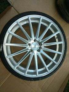Vossen Vff 2 Lug Pattern 5x120 Wheel Is 22x10 1 2 With New Tire Free Shipping