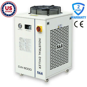Cw 6000dn Industrial Water Chiller For 22kw Cnc Spindle 100w Solid state Laser