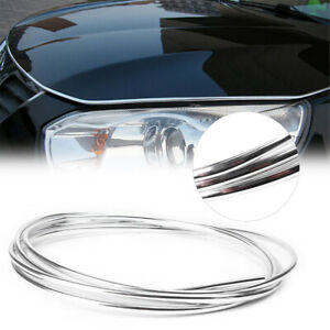 4m Chrome Moulding Trim Strip Auto Car Door Edge Scratch Guard Protector Cover