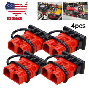 4pcs 175a Battery Quick Connect Wire Harness Plug Disconnect Winch Connector Kit