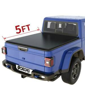 Oedro 5ft Soft Roll Up Vinyl Truck Bed Tonneau Cover Fit For 2020 Jeep Gladiator